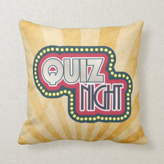 Quiz Night Trivia Party Sunburst Throw Pillow
