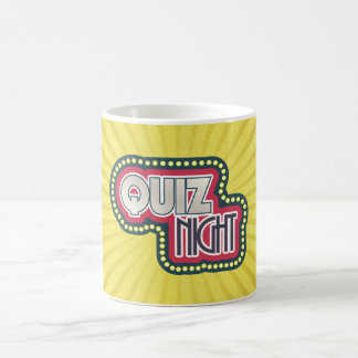 Quiz Night Trivia Party Yellow Sunburst Coffee Mug