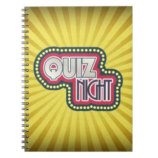 Quiz Night Trivia Party Yellow Sunburst Notebooks