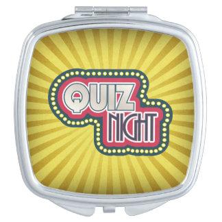 Quiz Night Trivia Party Yellow Sunburst Vanity Mirror