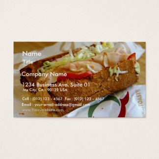 Quiznos Sub Sandwich Business Card
