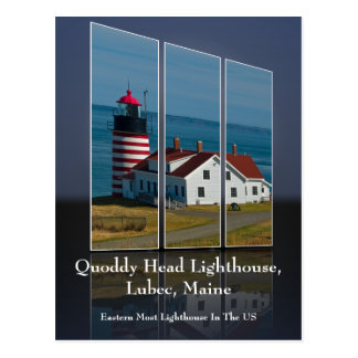 Quoddy Head Lighthouse Cutout Postcard