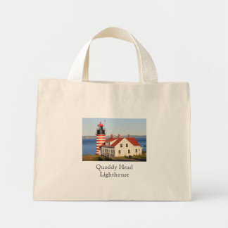 Quoddy Head Lighthouse Maine Mini Tote Bag