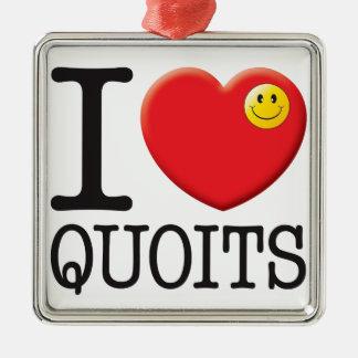 Quoits Love Metal Ornament