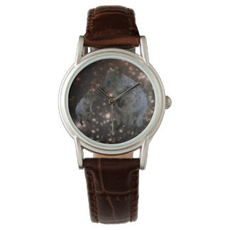 Quokka Chit Chat, Ladies Brown Leather Watch