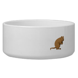 Quokka Side Watercolor Dog Water Bowl