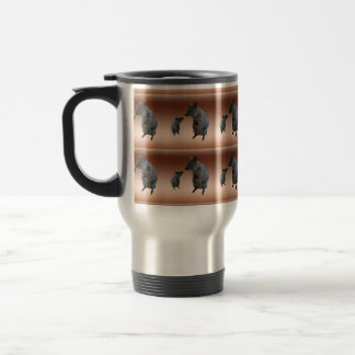Quokkas In A Pattern On Copper Background, Travel Mug