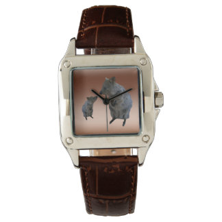Quokkas, The Greeting, Ladies Brown Leather Watch. Watch