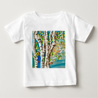 """Autumn Birches"". Acrylics and craft pai Baby T-Shirt"