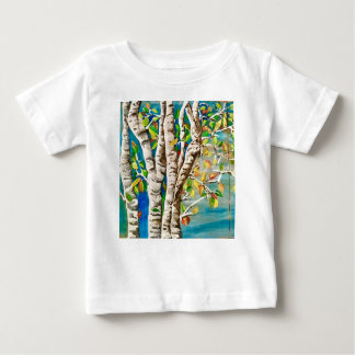 """Autumn Birches"". Acrylics and craft pai Baby T-Shirt"