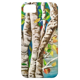 """""""Autumn Birches"""". Acrylics and craft pai iPhone 5 Cover"""