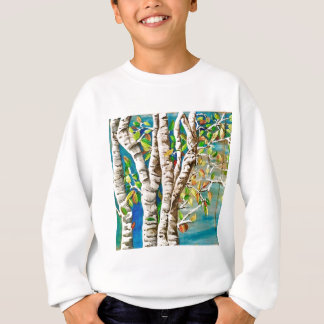 """Autumn Birches"". Acrylics and craft pai Sweatshirt"