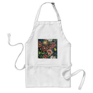 """Mosaic Garden"". Acrylics on canvas.#pai Standard Apron"