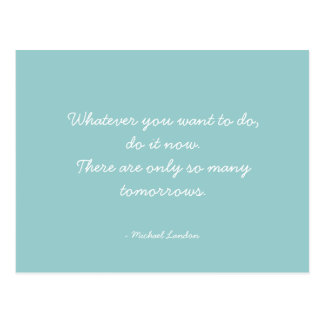 Quotable Quotes - work, career, and dreams Postcard
