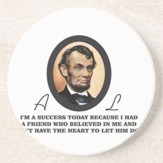 quote abe color drink coasters