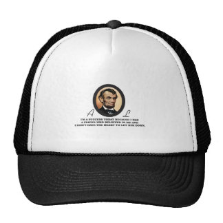 quote abe color trucker hat