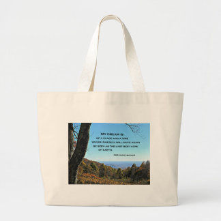 Quote about America by Abraham Lincoln Large Tote Bag