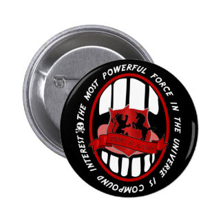 Quote about money 2 inch round button