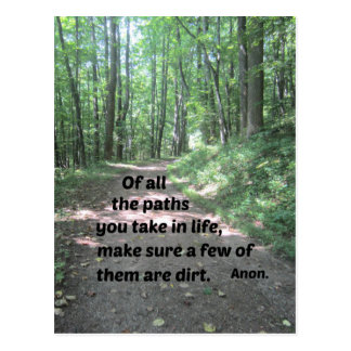 Quote about nature's paths. postcard