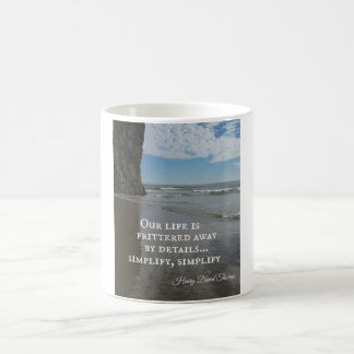 Quote about simplifing life mug