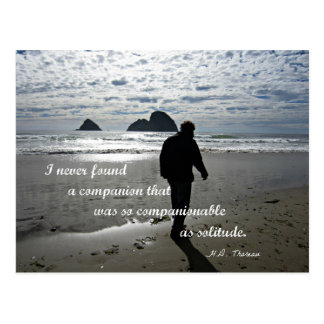 Quote about solitude by H.D. Thoreau Postcard