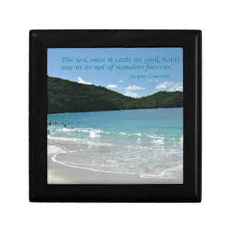 Quote about the Sea, by J. Cousteau Gift Box
