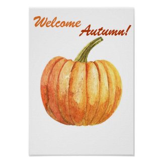 Quote autumn poster
