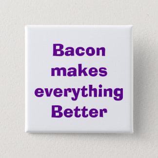 quote, bacon 2 inch square button