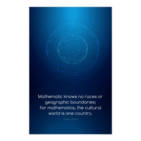 Quote by David Hilbert - Math Posters