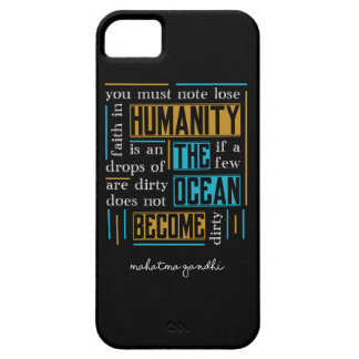 Quote by Mahatma Gandhi iPhone 5 Cover