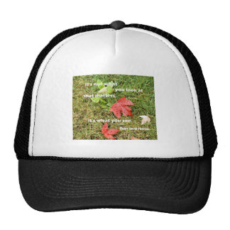 Quote byThoreau: It's not what you look at that Trucker Hat