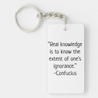 Quote Confucius Keychain