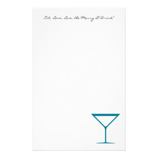 QUOTE: Eat, Love, Live, Be Merry & Drink Stationery