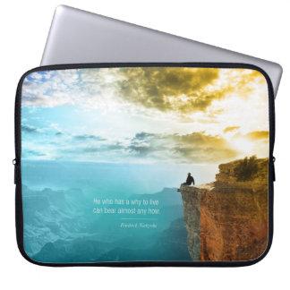 Quote Friedrich Nietzsche Nature Adventure Nature Laptop Sleeve