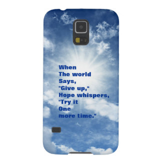Quote hope and faith blue sky design galaxy s5 case
