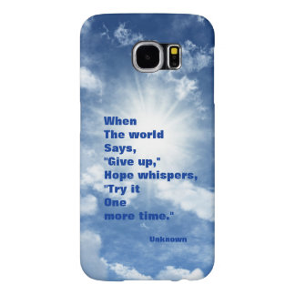 Quote hope and faith blue sky design samsung galaxy s6 cases