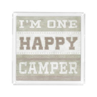 Quote | I'm One Happy Camper Acrylic Tray