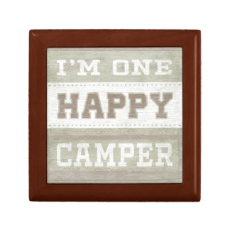 Quote | I'm One Happy Camper Keepsake Boxes