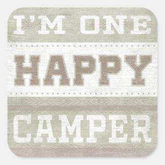 Quote | I'm One Happy Camper Square Sticker