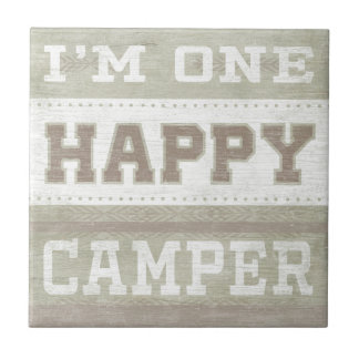 Quote | I'm One Happy Camper Tile