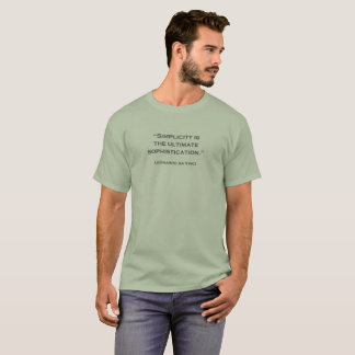 Quote Leonardo da Vinci 02 T-Shirt