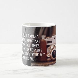 Quote: Life is like a Camera Classic White Coffee Mug