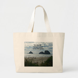 Quote: Live your life, but leave a mark on the... Jumbo Tote Bag