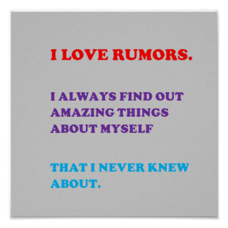 QUOTE Love Rumors Know Personality Behaviour funny Print