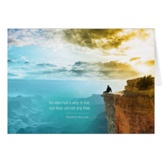 Quote Nietzsche Why to Live Greeting Card Editable