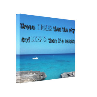 Quote ocean canvas print