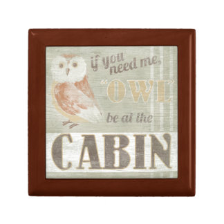 Quote | Owl Be At The Cabin Gift Box