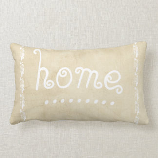 quote pillow distessed sepia and white with  home