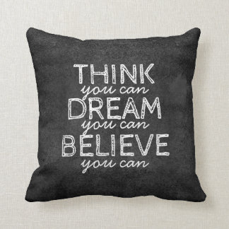 quote pillow inspirational typography on gray