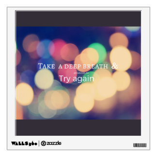 Quote Wall Art - Bokeh lights effect Wall Decal